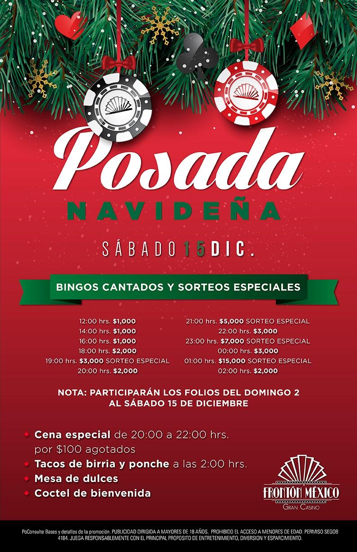 Posada navideña 15 diciembre Gran Casino